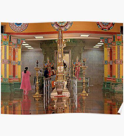 Indian Temple in Kuala Lumpur Poster