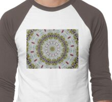 Light toned Mandala. Men's Baseball ¾ T-Shirt