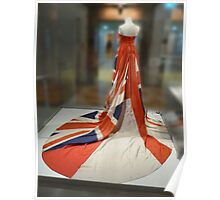 Union Jack wedding dress Poster