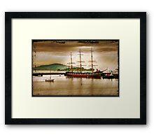 Ship San Francisco Framed Print