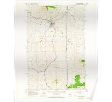 USGS Topo Map Washington State WA Tekoa 244222 1964 24000 Poster