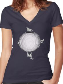 Inverted Marauders Moon Women's Fitted V-Neck T-Shirt