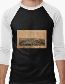 Panoramic Maps Rockton NY Men's Baseball ¾ T-Shirt