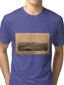 Panoramic Maps Rockton NY Tri-blend T-Shirt