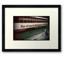 Vintage Pittsburgh Trolly Framed Print