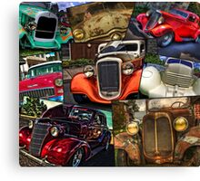 Classic Car Heaven And Two Beaters Canvas Print