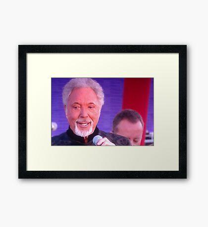 Sir Tom Jones  Framed Print