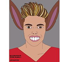 Justin Bieber vs Pinocchio . Illustrated by Peter Marsh 2015©. Photographic Print