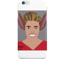 Justin Bieber vs Pinocchio . Illustrated by Peter Marsh 2015©. iPhone Case/Skin