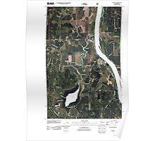 USGS Topo Map Washington State WA Cusick 20110512 TM Poster