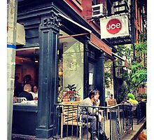 Greenwich Village Cafe Photographic Print