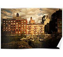 Storm Clouds Over the Chelsea Skyline - High Line - New York City Poster