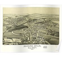 Panoramic Maps Miner's Mills and Mill Creek Luzerne County Pa 1892 Poster