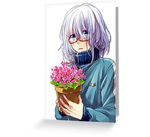 Anime Boy Greeting Card