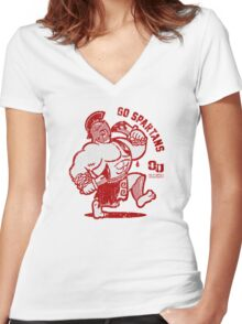 GO SPARTANS! Women's Fitted V-Neck T-Shirt