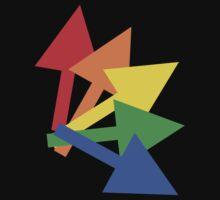 Rainbow arrows Baby Tee