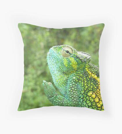 Chameleon Waving Peace Throw Pillow
