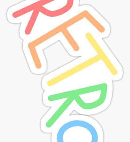 Retro! Sticker