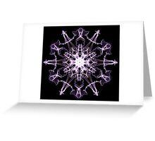 Purple Crytal Greeting Card