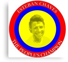 ESTEBAN CHAVES THE PEOPLE'S CHAMPION Canvas Print