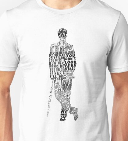 Mycroft Holmes Typography Art Unisex T-Shirt