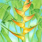 Orange Heliconia by joeyartist