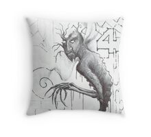 Bones and Branches Throw Pillow