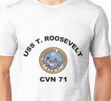 USS Theodore Roosevelt (CVN-71) Crest Unisex T-Shirt