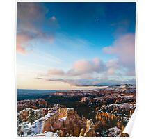Amphitheater Moonrise - Bryce Canyon National Park, Utah Poster