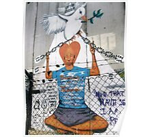 I hear the weeping in the separation wall Poster