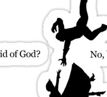 BIOSHOCK INFINITE - Booker, are you afraid of God? Sticker