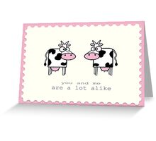 Vintage Collection - Cows Greeting Card