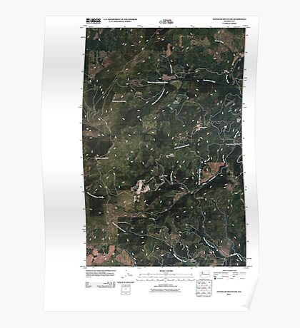 USGS Topo Map Washington State WA Stensgar Mountain 20110406 TM Poster