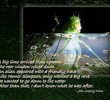 Alien With A Friendly Wave by Jean Gregory  Evans