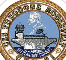 USS Theodore Roosevelt (CVN-71) Crest for Dark Colors Sticker