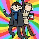 Sherlock + John Poster by geothebio
