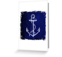 Rustic beach sailor fashion Navy blue anchor nautical  Greeting Card
