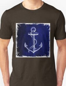 Rustic beach sailor fashion Navy blue anchor nautical  Unisex T-Shirt