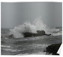A Large Crashing Wave Poster
