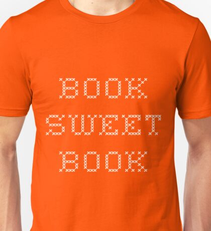 Book Sweet Book - White Text T-Shirt