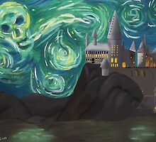 Starry Night at Hogwarts by paulusjart