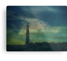 Cape Hatteras Lighthouse at Sunset - Outer Banks, NC Metal Print