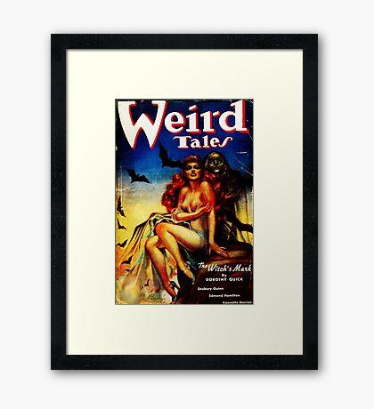 Weird Tales Magazine Framed Print