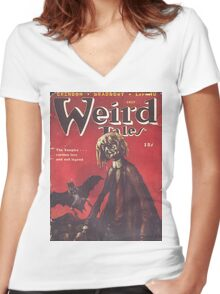 Weird Tales Magazine Women's Fitted V-Neck T-Shirt