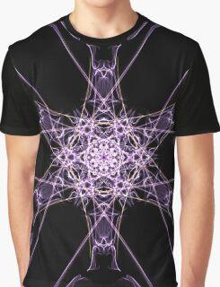 purple star on Black Graphic T-Shirt