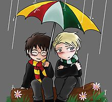 Harry and Draco Chibis by houndtails