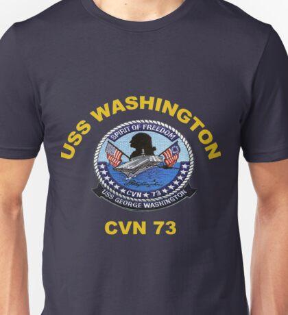 USS George Washington (CVN-73) Crest for Dark Colors Unisex T-Shirt