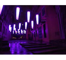 Purple Street Photographic Print