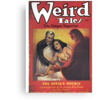 Weird Tales Magazine Canvas Print