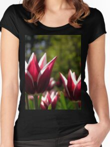 Tulips 7 Women's Fitted Scoop T-Shirt